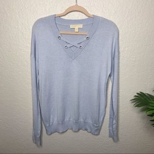 Michael Kors light blue lightweight sweater